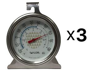 Taylor Precision Freezer Thermometer 2.5 Dial Design Stainless Steel 3 Pack $15.81