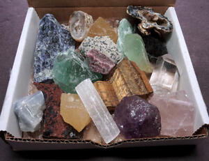 Crafters Collection Large Stones1 Lb Mix Natural Gems Crystals Minerals Box Set $24.95