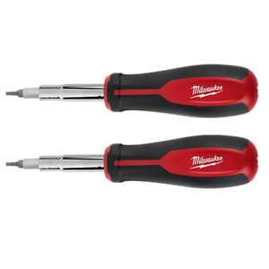 11 in 1 Multi Tip Screwdriver with Square Drive Bits 2 Pack New