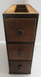 lot of 3 SINGER ANTIQUE WALNUT TREADLE SEWING MACHINE DRAWERS RACK 1 of 2 $38.95