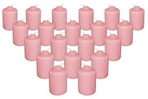 Pink Wild Flower Scented Votive Candles 15 Hour Long Burn Time Box of 20 $25.79