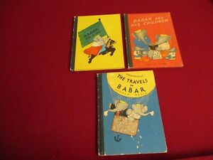 3 BABAR by Laurent De Brunhoff The King His Children The Travels of Babar $25.00