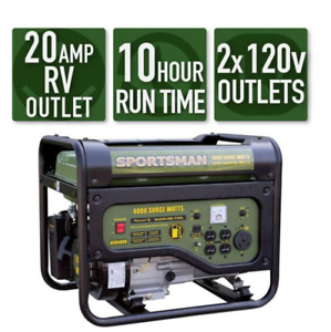 4000 3500 Watt Gasoline Powered Best Portable Generator Gas RV Outlet Emergenc