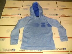 Under Armor Cold Gear Sky Blue Pullover Hoodie Youth Size Medium NICE ONE $14.99