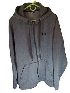 Men's Under Armour Cold Gear Hoodie jacket Gray Size XL $26.70