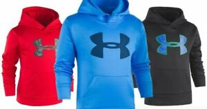$40 NWT ☀UNDER ARMOUR☀ Hoodie Boys FREE SHIPPING Fleece Jacket RED New 6 $24.99