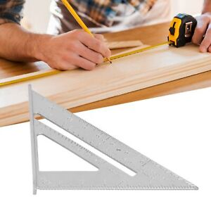 7inch Aluminum Alloy Measuring Right Angle Triangle Woodworking Tool Ruler $11.29