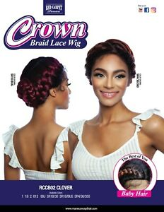 MANE CONCEPT RED CARPET SYNTHETIC BRAID LACE FRONT WIG RCCB02 CLOVER $35.50