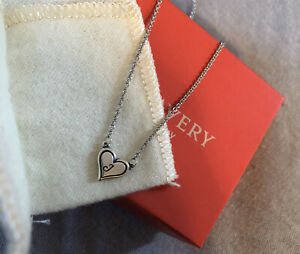 James Avery Heart Initial Necklace J� Sterling Silver 17� long $69.99