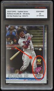RONALD ACUNA JR. TOPPS UPDATE ALL STAR GOLD ROOKIE CUP CARD 1ST GRADED 10 BRAVES $29.24