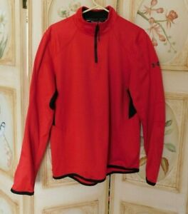 Under Armor Cold Gear Reactor Red Pullover 1 4 Zipper Top Size Large $10.00