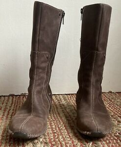 Timberland Comforia Distressed Leather Zip Side Boots 24380 Women Sz 8 M
