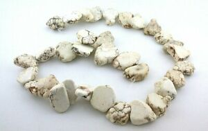 3 4 to 1 Inch Flat Nugget Magnesite Buffalo Turquoise Bead Strand 15 Strand $21.99