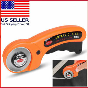 US Rotary Cutter With 45mm Blade Sewing Quilters Fabric Leather Cutting Tool Set $5.99