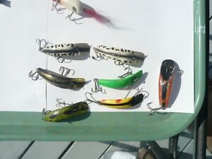 LOT OF 7 HELIN FLATFISH X 4 X 5 FROG2 WHITE COACH DOGSTHE BEST SALMON LURES