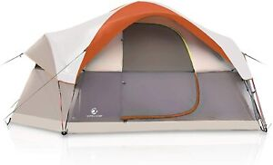 6 Person Camping Tents Pop Up Hiking Picnic Dome Tent with Carry Bag Rainfly