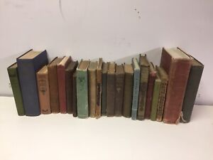 Lot of 10 Vintage Old Rare Antique Hardcover Books Mixed Color Random $25.95