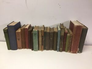 Lot of 10 Vintage Old Rare Antique Hardcover Books Mixed Color Random $24.99