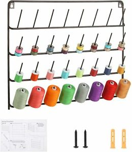 32 Spool Sewing Thread Rack Holder Metal Rack for Organize Sewing Thread Brown $16.99