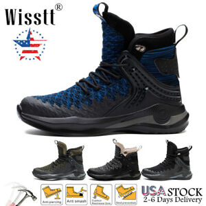 Mens Work Boots Safety Shoes Waterproof Steel Toe Labor Sneaker Indestructible