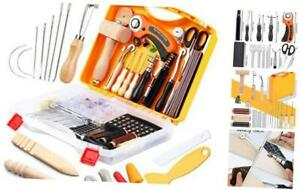 Leather Sewing Kit Complete Leather Working Tools and Supplies with Rotary $88.85