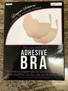 Fashion Forms Lingerie Solutions Ultimate Boost Adhesive Bra Size B OPEN BOX $7.99
