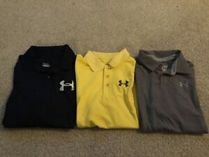 Lot Of Boys Under Armour Polo Shirts size Large amp; X Large $40.00