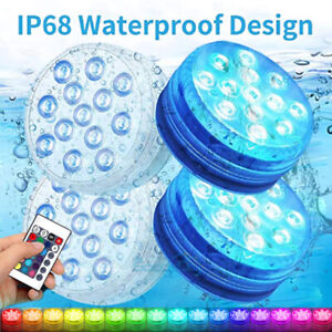 4x 16Colors Underwater Swimming Pool Light RGB LED for Pond Party Garden Hot Tub $24.91