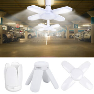 Deformable 60W Garage Light 8000 Lumens Cool White with 4 Adjustable Panel
