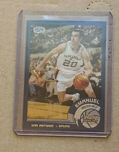 Emanuel Ginobli Rookie San Antonio Spurs 2002 03 Topps Chrome Spanish 124