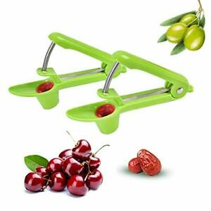 2 PCS Cherry Pitter Olive Pitting Tool Pit Remover Red Dates Pitter Easy Safe