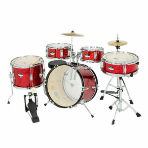 Glarry 16in 5 Piece Complete Kids Junior Drum Set with Bass Drum $184.44