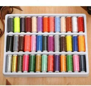 New 39PCS Set Assorted Colorful Polyester Sewing Thread Spools Bobbin $4.46