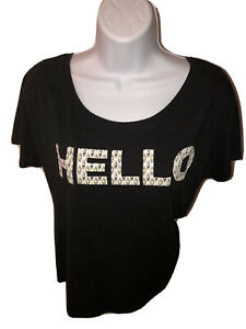 HELLO Women's The Book Of Mormon Dark Gray Ladies Tee T Shirt Size Medium