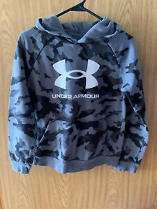 Youth Black And Gray Camo Under Armour Hoodie Size Youth Large $13.75