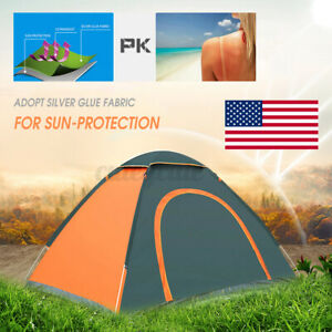 US 2 3 Person Waterproof Camping Tent Auto Pop Up Quick Shelter Outdoor