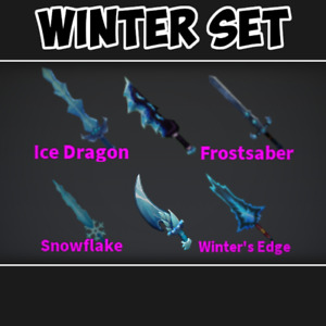 *CHEAP* Roblox Mm2 Winter Set Godly Knifes *FAST DELIVERY*