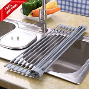 Magic Sink Kitchen Cup Dish Drainer Drying Rack Trivet Roll Up Folding Kitchen