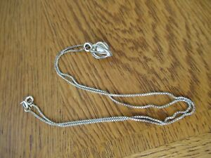 Caged Pearl Pendant Vintage Sterling Silver 18 Chain Necklace Estate Jewelry $25.99