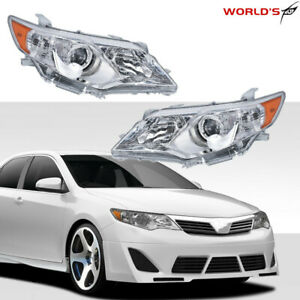 Clear LeftRight Projector Headlights Headlamps For 2012 2013 2014 Toyota Camry $107.99