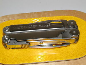 LEATHERMAN WAVE MULTI TOOL file 1 2 broke off OTHERWISE VERY GOOD CONDITION