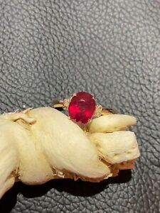2.89 CT Natural Mined Ruby Diamond In Solid Yellow Gold Ring Video