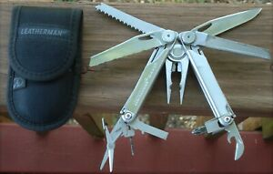 Nice 2016 LEATHERMAN WAVE Multi Tool Nylon Sheath Camping Fishing Cap Crimper