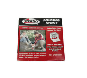 Sterno Brand Folding Stove Camping Hunting Outdoor Backpacking