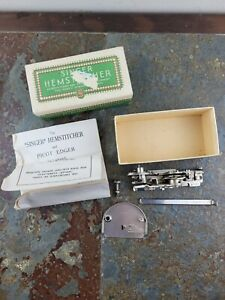 Vintage Singer Sewing Machine Hemstitcher And Picot Edger Simanco 121389 121387 $49.99