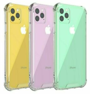 Silicone For iPhone 12 Pro Max 11 Pro MAX 12 PRO Crystal Clear Back Case Cover
