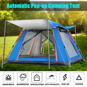 4 5 People Large Waterproof Automatic Outdoor Instant Pop Up Tent Camping Family
