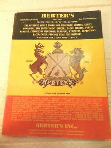 vtg 1974 HERTERS CATALOG Hunting Fishing Reels Lures Poles Sporting Goods