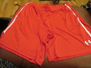 NWT Mens Red amp; White Under Armour Shorts XXL $21.97