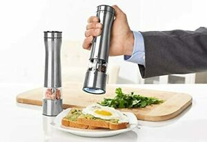 Automatic Electric Salt Pepper Mill Grinder Set with Illuminating LED Light